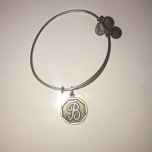 b monogrammed letter alex and ani bracelet